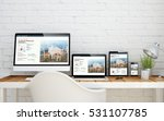 multidevice desktop with fresh... | Shutterstock . vector #531107785