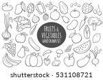 fruits and vegetables doodle... | Shutterstock .eps vector #531108721