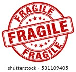 fragile. stamp. red round... | Shutterstock .eps vector #531109405