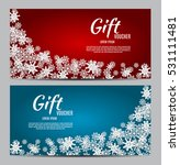 christmas and new year gift... | Shutterstock .eps vector #531111481