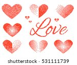 set of stickers love and heart. ... | Shutterstock .eps vector #531111739