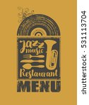 menu for the restaurant with... | Shutterstock .eps vector #531113704
