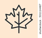 Canada Maple Leaf Minimal Flat...