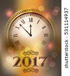2017 new year gold shining... | Shutterstock .eps vector #531114937