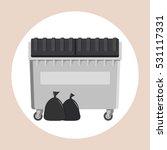 dumpster flat design isolated...   Shutterstock .eps vector #531117331