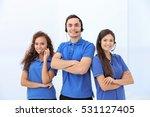call center operators on white... | Shutterstock . vector #531127405