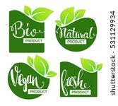bio  natural  vegan and fresh...   Shutterstock .eps vector #531129934