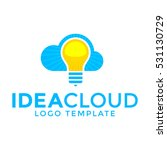 idea cloud logo template with... | Shutterstock .eps vector #531130729