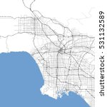 Map Los Angeles City....