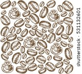 painted coffee beans  sketch ... | Shutterstock .eps vector #531132601