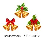 set of vector gold christmas...