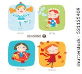 seasons child's outdoor... | Shutterstock .eps vector #531135409