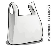 a plastic bag of white color is ... | Shutterstock .eps vector #531136471