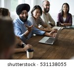 meeting table networking... | Shutterstock . vector #531138055