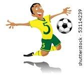 black soccer player celebrating ... | Shutterstock .eps vector #53114239