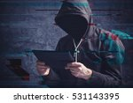 cyber crime concept with...   Shutterstock . vector #531143395