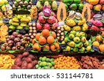 fresh exotic fruits at the... | Shutterstock . vector #531144781