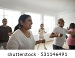 diversity people exercise class ... | Shutterstock . vector #531146491