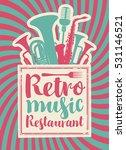 banner for the restaurant with...   Shutterstock .eps vector #531146521