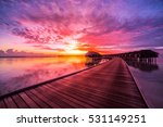 amazing sunset sky and... | Shutterstock . vector #531149251