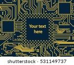 high tech circuit board vector... | Shutterstock .eps vector #531149737