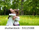small girl enjoying life with... | Shutterstock . vector #53115388