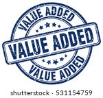 value added. stamp. blue round... | Shutterstock .eps vector #531154759