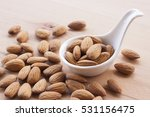 Almonds On A White Background ...