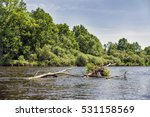 Spring River Flowing In A...