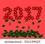 happy new year 2017 card in... | Shutterstock .eps vector #531159025