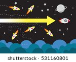 rocket launching win. business... | Shutterstock .eps vector #531160801