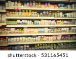 blurred image vitamin store... | Shutterstock . vector #531165451
