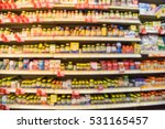 blurred image of vitamin store... | Shutterstock . vector #531165457