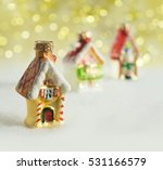 christmas decorations  vintage... | Shutterstock . vector #531166579