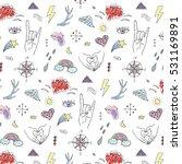 vector finger hands doodle... | Shutterstock .eps vector #531169891