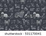 dog line pattern | Shutterstock .eps vector #531170041
