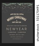 happy new year   merry... | Shutterstock .eps vector #531170491
