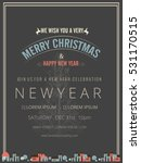 happy new year   merry... | Shutterstock .eps vector #531170515