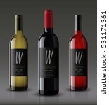 vector  wine bottle  made in a...