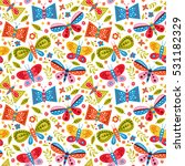 colorful vector seamless... | Shutterstock .eps vector #531182329