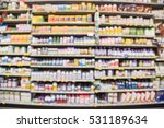 blurred image of vitamin store... | Shutterstock . vector #531189634
