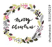 merry christmas. print design | Shutterstock .eps vector #531190219