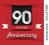 90 years anniversary logo with... | Shutterstock .eps vector #531197389