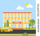 the school building  school... | Shutterstock .eps vector #531199741