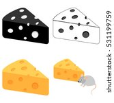 set pieces of cheese  cheese... | Shutterstock .eps vector #531199759