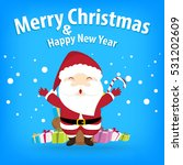 santa claus and snow theme ... | Shutterstock .eps vector #531202609