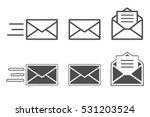 symbols of receiving mail ... | Shutterstock .eps vector #531203524