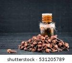 spice clove essential oil in... | Shutterstock . vector #531205789