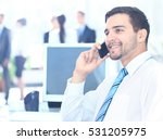businessman talking on the phone   Shutterstock . vector #531205975
