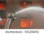 Firemen On A Lift Up...